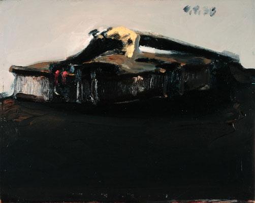 Geige, 1976, Öl auf Hartfaser, 30x35