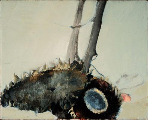 Sonnenblumen, 1979, Öl auf Leinwand, 30x35