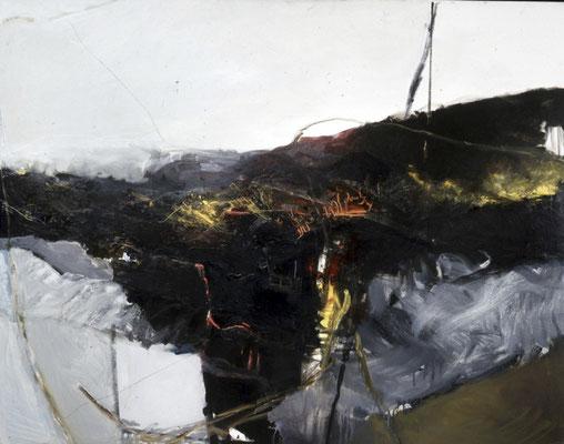 Landschaft, 1991, Öl auf Leinwand, 120x140, Land Sachsen-Anhalt
