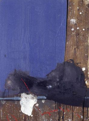 Ohne Titel, 1995, Öl auf Holz, 43x71, Privatbesitz
