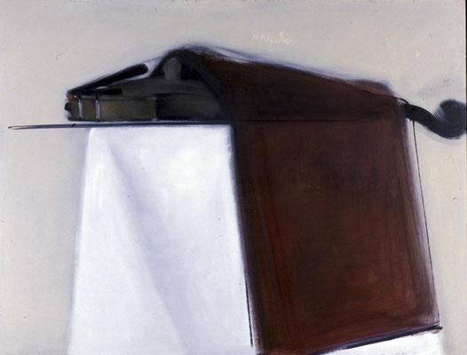 Geige, 1988, Öl auf Leinwand, 79x103