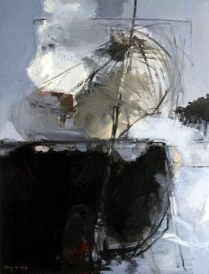 Nest, 1980, Öl auf Leinwand, 130x100