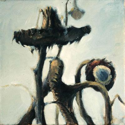 Sonnenblumen, 1978, Öl auf Leinwand, 33x41