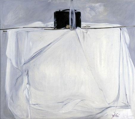 Stillleben mit Flasche, 1976, Öl auf Hartfaser, 111x125