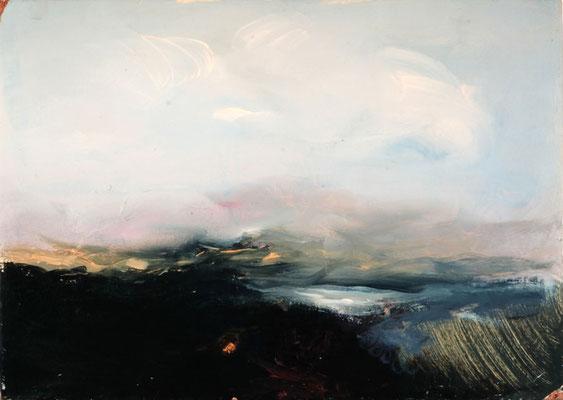 Kleine Landschaft, Öl auf Holz, 1979, 25x35