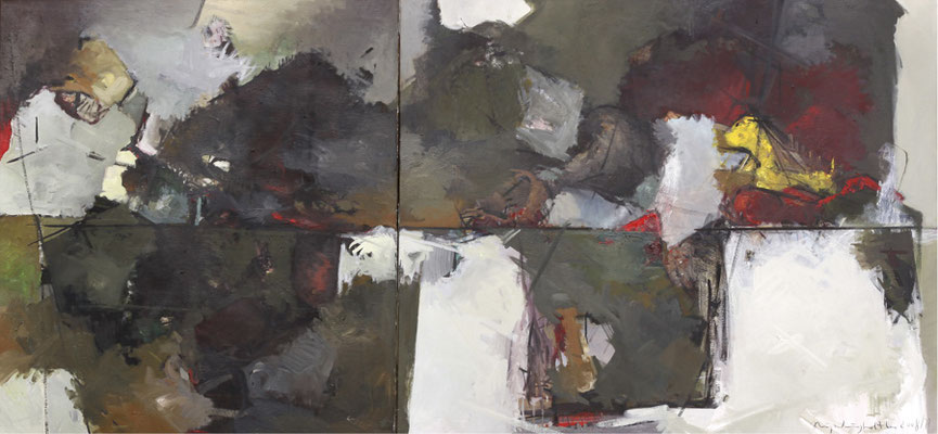 Ohne Titel, 1999/2001, Öl auf Leinwand, 140 x 120