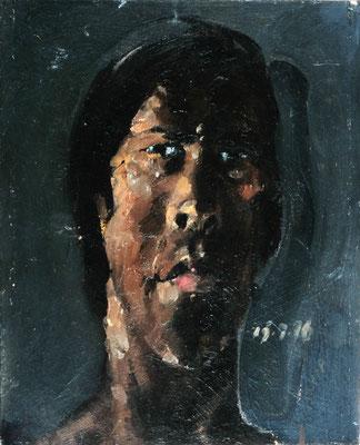 Kleine Studie, 1976, Öl auf Pappe, 25x18,5