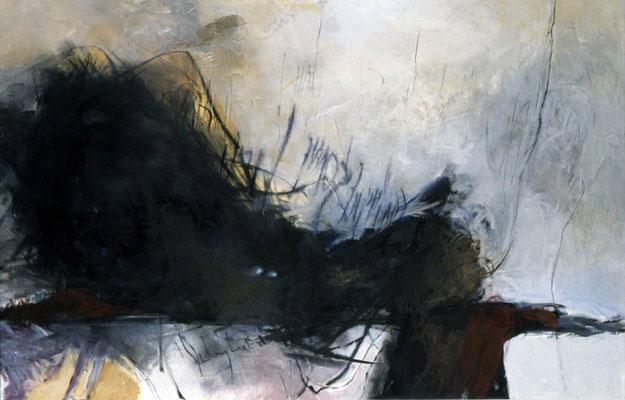 Ohne Titel, 1998, Öl auf Siebdruck, 200x300, Privatbesitz