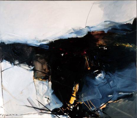 Landschaft, 1984, Öl auf Leinwand, 120x140, Privatbesitz