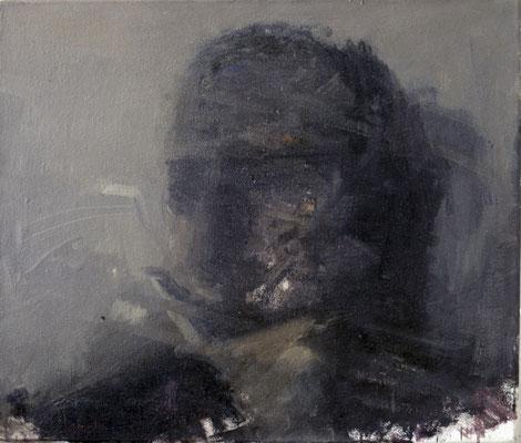 Studie 3, 1988, Öl auf Leinwand, 60x70, Privatbesitz