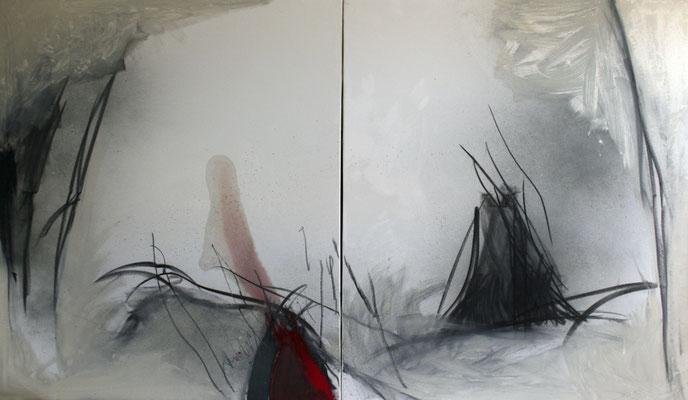 Ohne Titel, 2013, Öl auf Leinwand, 120x210, Ernst & Young Frankfurt/Main