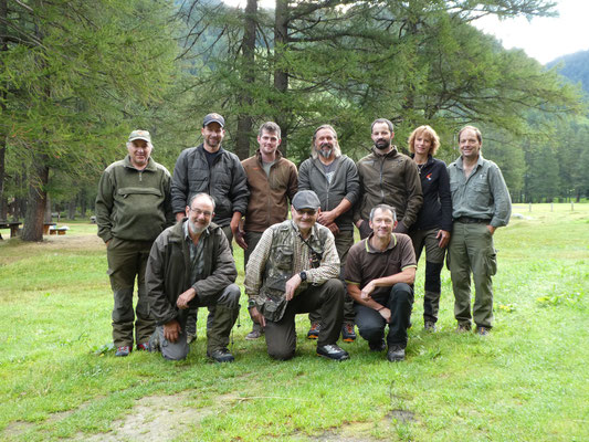 2016 Erschwerte Gebirgsschweissprüfung Oberwald - Teilnehmer und Richter