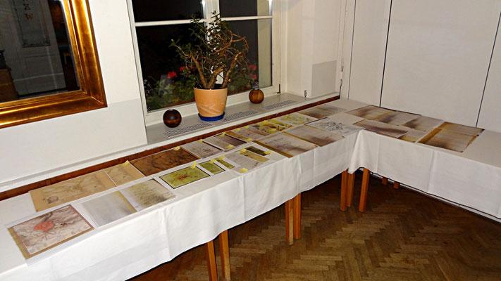 Kopien von historischen Dokumenten zur Weinau
