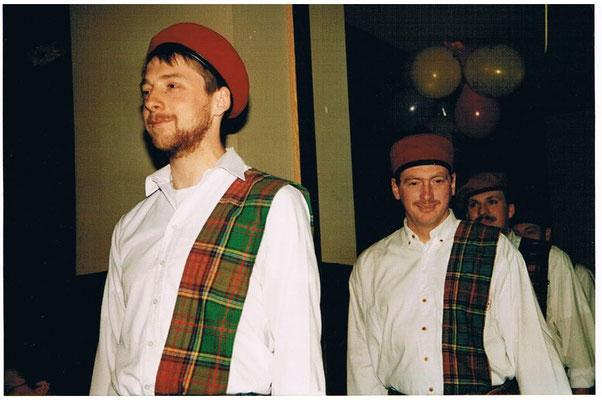 Männerballett Fasching 1993 - Siegfried Veek, Stefan Schiel, Jörg Schreiner