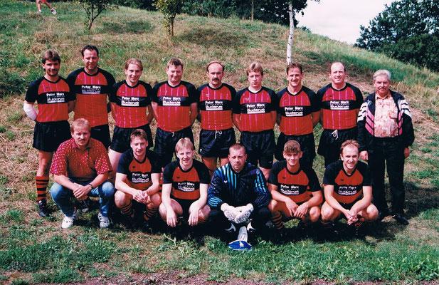 1. Mannschaft beim Auswärtsspiel in Bärenbach - Trainer Andreas Fischer