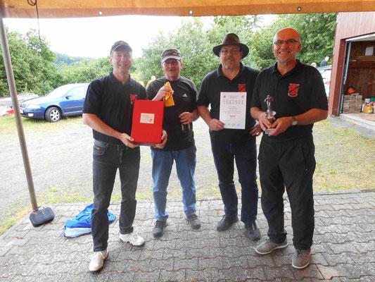 2. Platz beim Boule-Turnier der VG-Herrstein in Vollmersbach