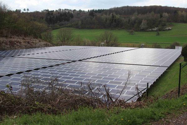 Die Photovoltaikanlage der Ortsgemeinde auf dem ehemaligen Sportplatz