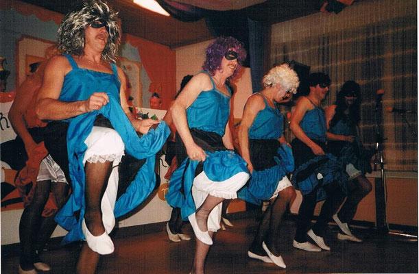 Männerballett Fasching 1989