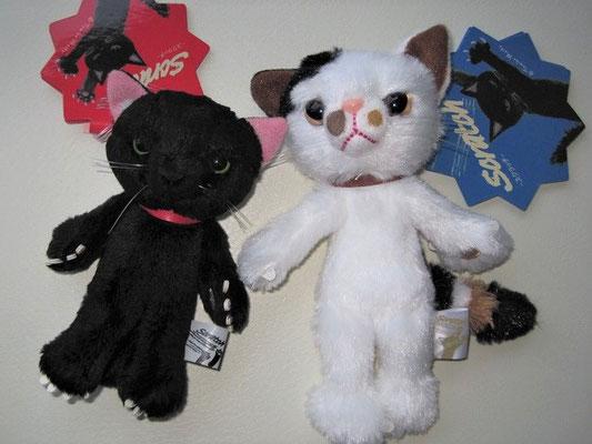 スクラッチ猫小サイズと中サイズ