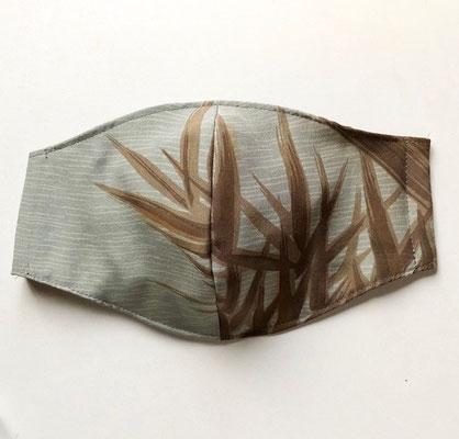 竹柄のシルクマスク(男性サイズ)