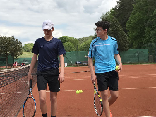 Luis Gerhardt und Michael Göller im Doppel