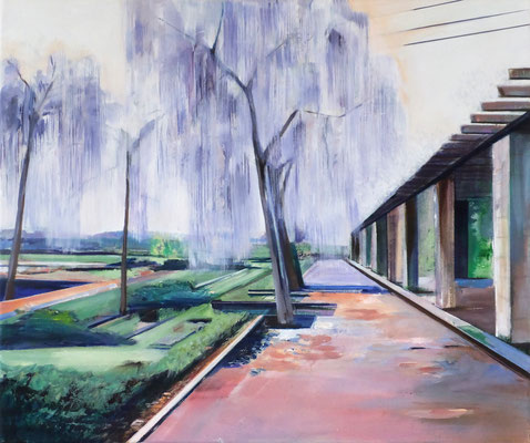 Am Palmengarten April, Acryl und Öl auf Leinwand, 50x60cm, 2019