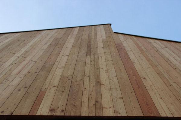Holzfassade aus Lärchenholz