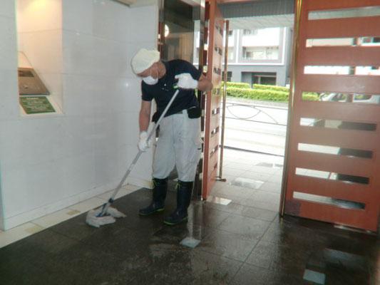 モップ 定期床面清掃@菱和パレス高輪TOWER