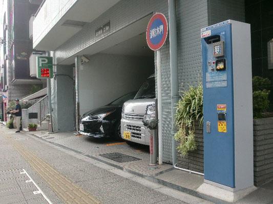 時間貸し有料駐車場の黄線引直し@菱和パレス高輪TOWER/株式会社クレアスコミュニティー
