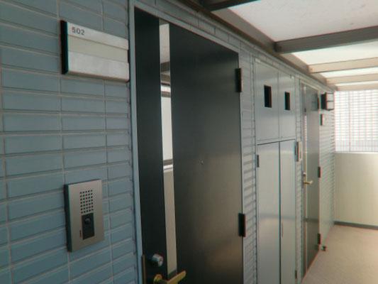 502号室前共用廊下漏水対応工事@菱和パレス高輪TOWER/株式会社クレアスコミュニティー