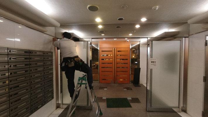 自動ドアの不具合原因調査に立ち合い@菱和パレス高輪TOWER管理組合ブログ