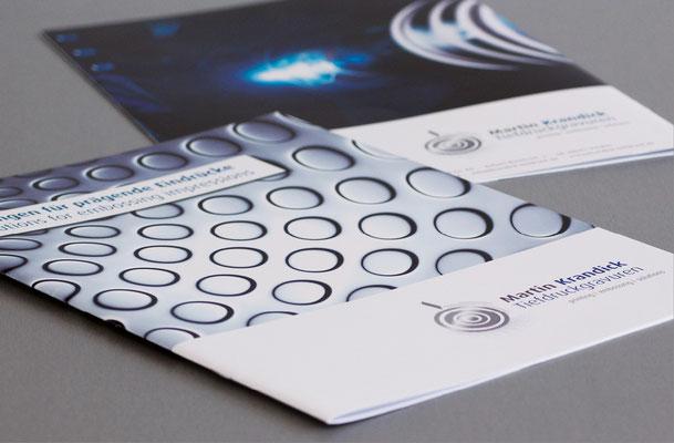 Krandick Unternehmensbroschüre mit Glanzlack-Exklusiv-Veredelung