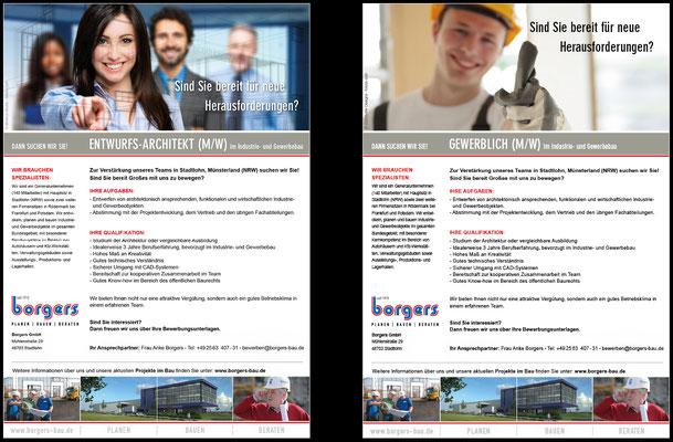 Stellenanzeigen für den Onlinebereich im Borgers-Unternehmens CI
