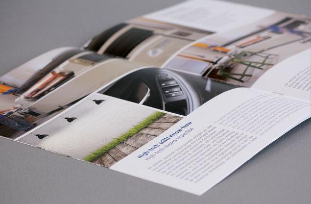 Krandick Unternehmensbroschüre in Deutscher und Englischer Sprache und informative Texte und ansprechenden Fotos