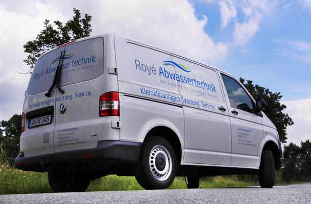 Für das Einsatzfahrzeug des Umwelttechnikers eine schöne Fahrzeugbeschriftung