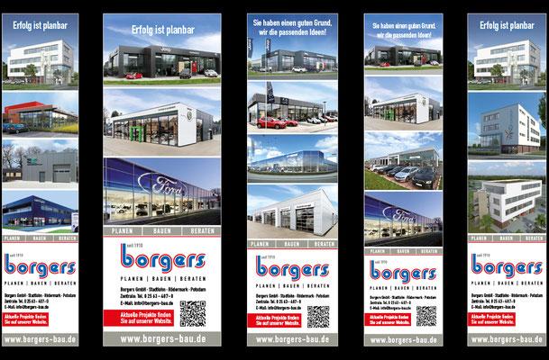Anzeigen für verschiedenste Magazine nach Anzeigenplan