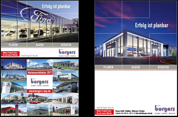Titelseite für Autohaus-Magazin