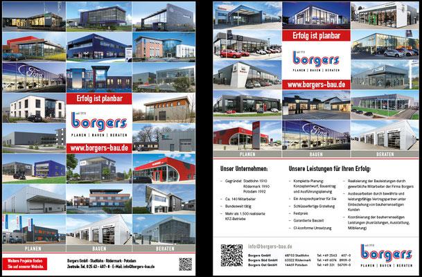 Anzeigen oder Titelseiten für verschiedenste Magazine nach Anzeigenplan