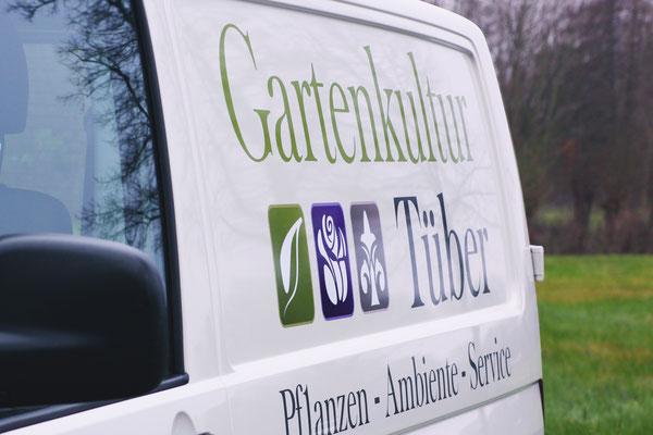 Fahrzeugbeschriftung Gartenkultur Tüber - Gescher
