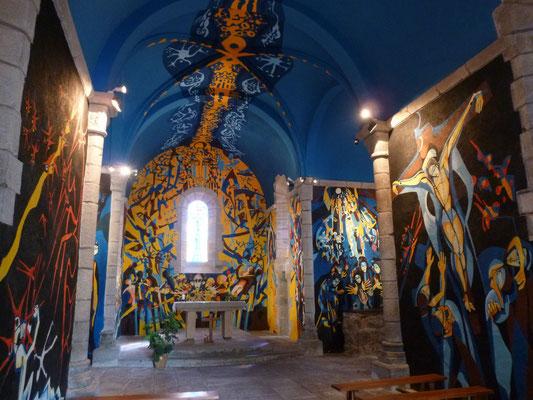 l'église de Sous Parsat peinte par Gabriel Chabrat