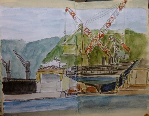 le chantier naval de Takamatsu par Daniel