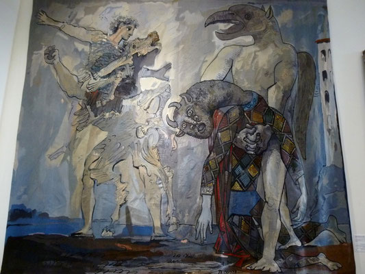 Tapisserie d'Yvette Cauquil-Prince d'après Picasso