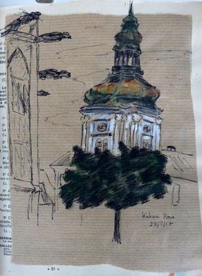 Kutna Hora, dessin de Frédérique