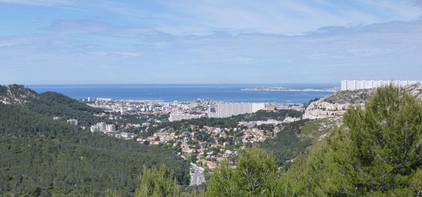 Marseille vu du col de la Gineste