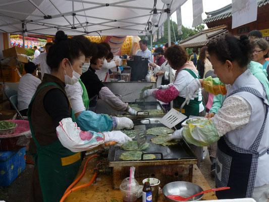 préparation des crèpes aux algues