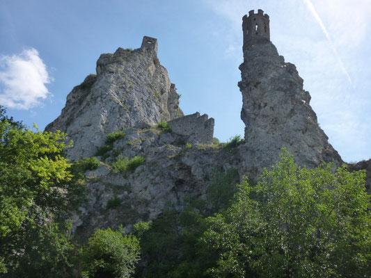 au confluent du Danube et de la Moravie