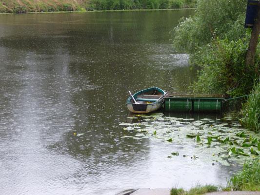 il pleut sur l'Elbe