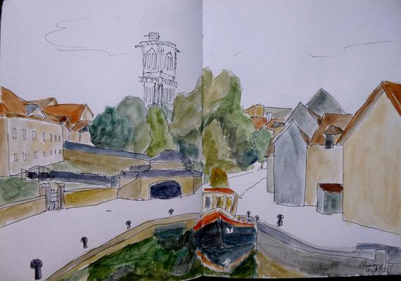 le port de Clamecy par Daniel