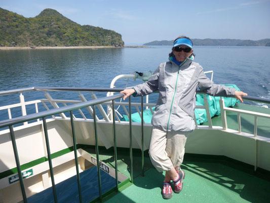 sur le ferry pour Shimoshima