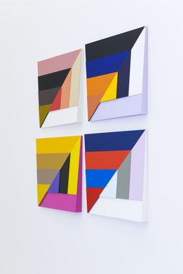 KONVEX / KONKAV - 2013 - Einzelreliefs je 60 x 60 x 6 cm
